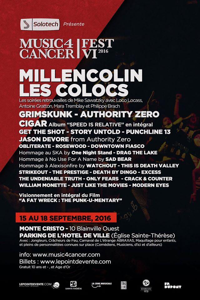 Lyric no cigar millencolin lyrics : Millencolin to play Music 4 Cancer Fest 2016 - PunKanormal Activity